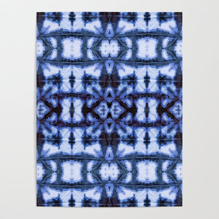 Blue Oxford Shibori Poster