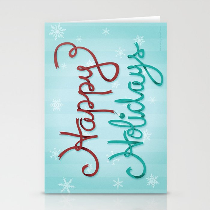 Holiday Ribbon Stationery Cards