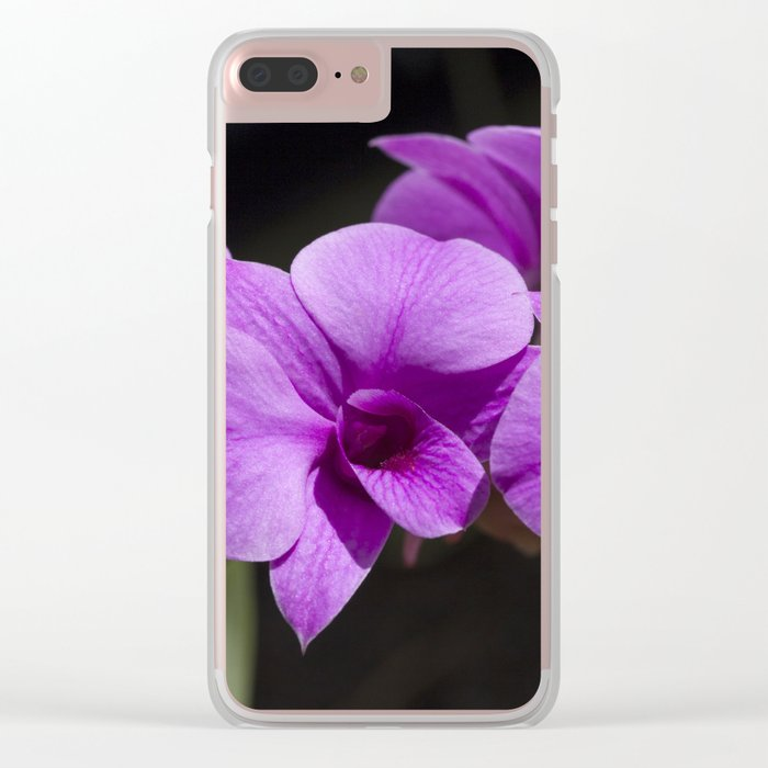 Orchid purple Clear iPhone Case