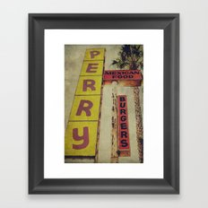 Perry's Vintage Sign Framed Art Print