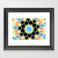 Kaleidoscope 'Twisted Flower' Framed Art Print