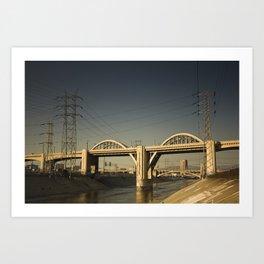 LA Bridge Art Print