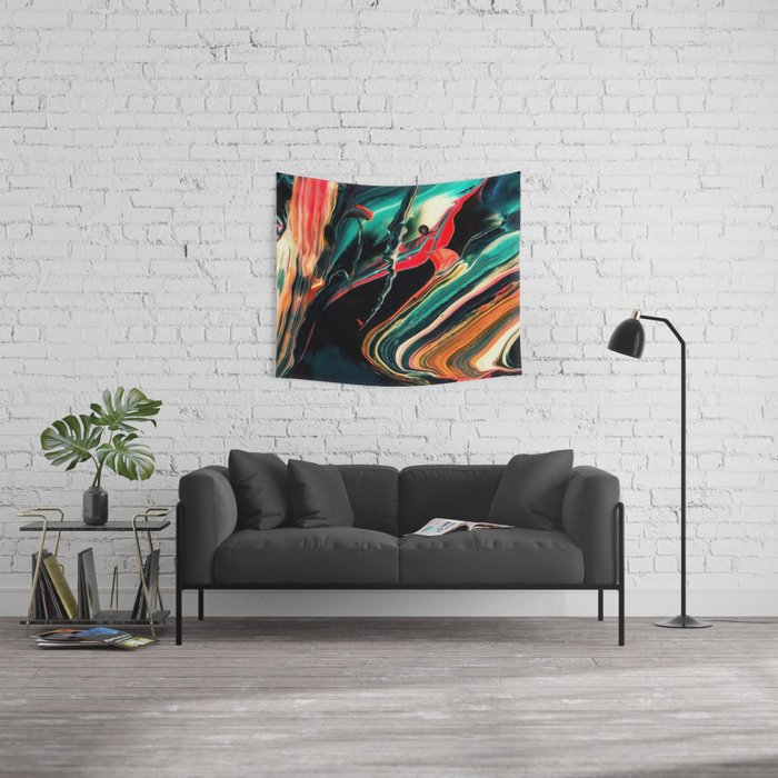 ABSTRACT COLORFUL PAINTING II-A Wall Tapestry