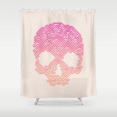 Labyrinthine Skull - Tropical Shower Curtain