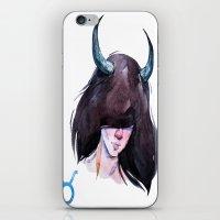 taurus iPhone & iPod Skins featuring Taurus by Aloke Design