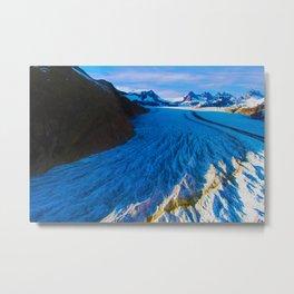 Glacier Landing Metal Print