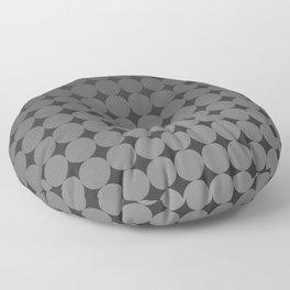Blackk Circles Floor Pillow