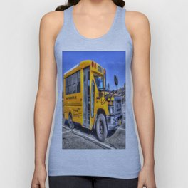 American School Bus Unisex Tank Top