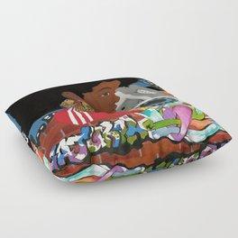 Old school Afro Floor Pillow