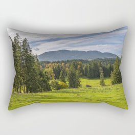 Alpine Landscape Rectangular Pillow