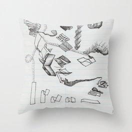 Ribbon Lifecycle Throw Pillow