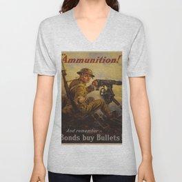 Vintage poster - Bonds Buy Bullets Unisex V-Neck