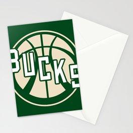 Bucks basketball vintage green logo Stationery Cards