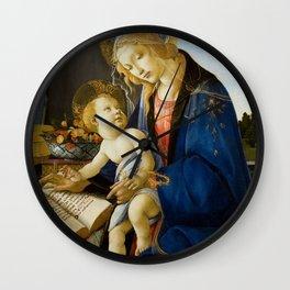 "Sandro Botticelli ""Madonna of the Book"" Wall Clock"