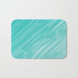 Bahama Blue Line Art, Variable Opacity Color Study – 5  Bath Mat