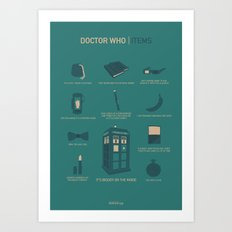 Doctor Who | Items Art Print