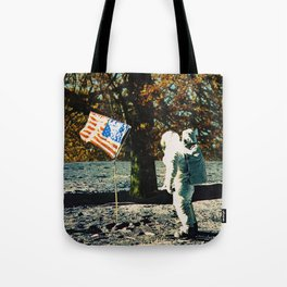 the first man under a tree Tote Bag