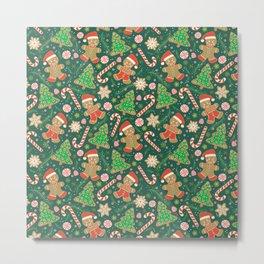 Gingerbread Men Metal Print