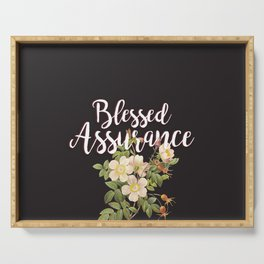 Blessed Assurance - Black Serving Tray