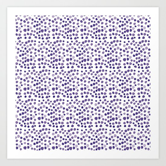 BLUE DOTS Art Print
