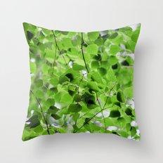 Birch Leaves 5051 Throw Pillow