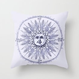 Lavender Beams Throw Pillow