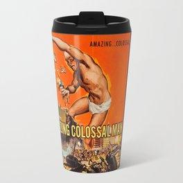 Colossalman, vintage horror movie poster Travel Mug
