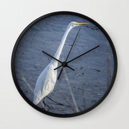 Great Egret at Delta Ponds, No. 2 Wall Clock