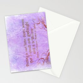 Parting is such bitter sweet sorrow - Romeo & Juliet Quote Stationery Cards