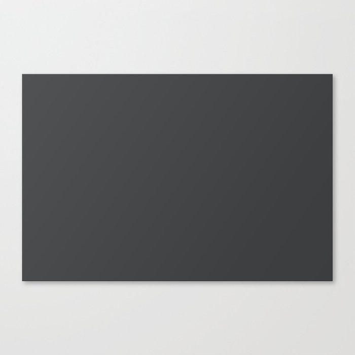 Dunn & Edwards 2019 Curated Colors Dark Engine (Dark Gray / Charcoal Gray) DE6350 Solid Color Leinwanddruck