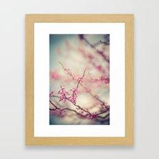 a pink day Framed Art Print