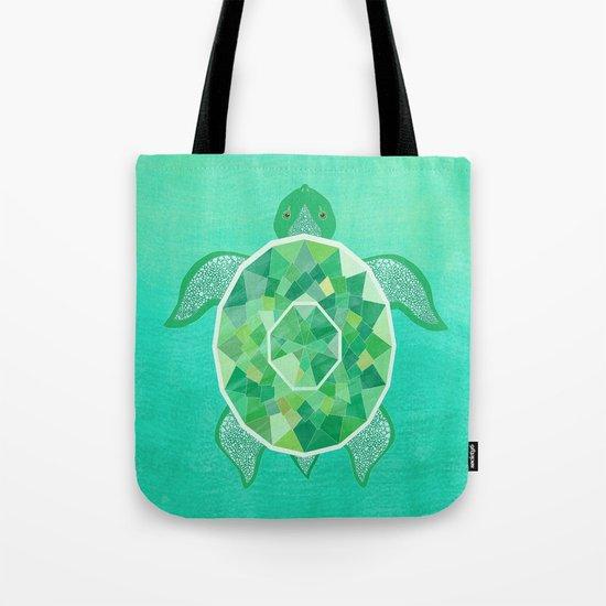Turtle - Emerald Tote Bag