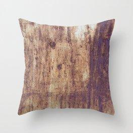 post war rust print Throw Pillow