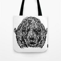 anxiety Tote Bags featuring Anxiety by Ryan Bussard