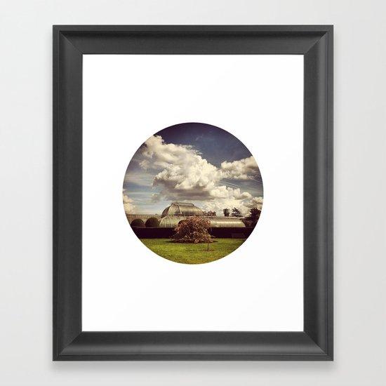 Telescope 2 glasshouse at kew Framed Art Print