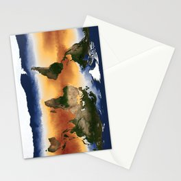 A Portrait of Global Sea Surface Temperatures Stationery Cards