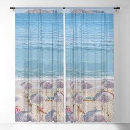 Beach Please Sheer Curtain