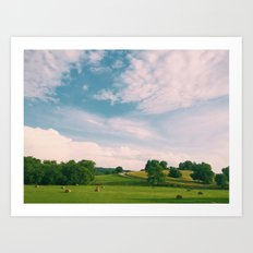Tennessee Fields Art Print