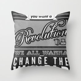 Revolution.  Throw Pillow