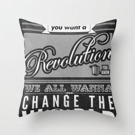 Revolution.  Throw Pillow