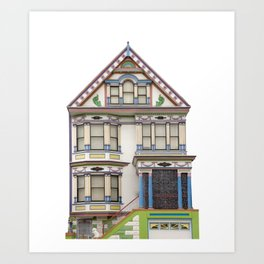 Rainbow House San Francisco Art Print