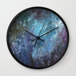 Evening Blooms Wall Clock