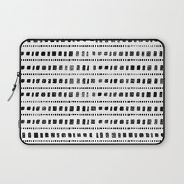 Black and White Squares Laptop Sleeve