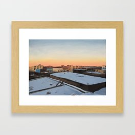 Snowy Bushwick, print of original oil painting Framed Art Print