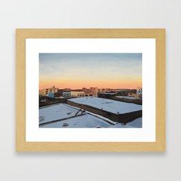 Snowy Bushwick, print of original oil painting Framed Art Print