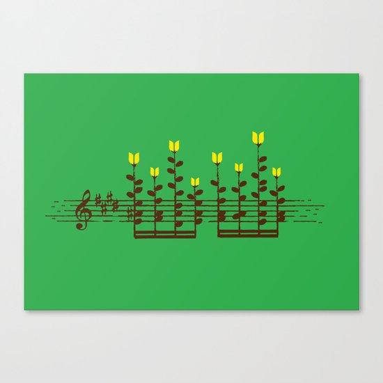 Music notes garden Canvas Print