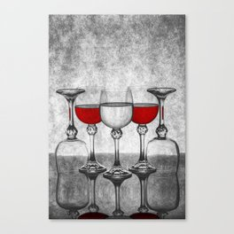 Still life with glass glasses with wine Canvas Print