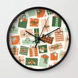 Christmas Presents Wall Clock