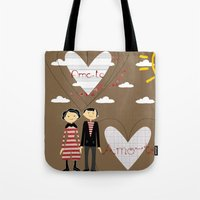 lovers Tote Bags featuring Lovers by BruxaMagica