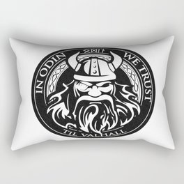 In Odin we trust - The king of Valhalla Rectangular Pillow